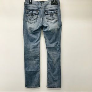 SILVER Suki Mid Straight Jeans Denimotion 29/L32
